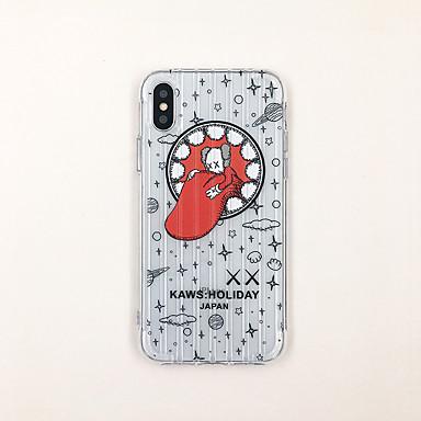 voordelige iPhone X hoesjes-hoesje Voor Apple iPhone XS / iPhone XR / iPhone XS Max Ultradun / Transparant / Patroon Achterkant Transparant / Cartoon TPU