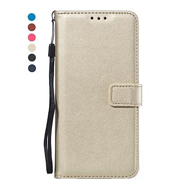 voordelige Galaxy Note-serie hoesjes / covers-hoesje Voor Samsung Galaxy Note 9 / Note 8 / Samsung Note 10 Portemonnee / Kaarthouder / Flip Volledig hoesje Effen PU-nahka / TPU