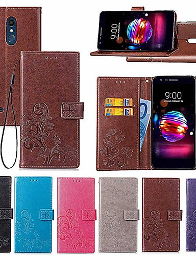 cheap Cases / Covers for LG-Case For LG LG Q7 / Q6 Wallet / Card Holder / with Stand Full Body Cases Mandala / Butterfly Hard PU Leather for LG V30+ / LG V20 / LG K10 2018
