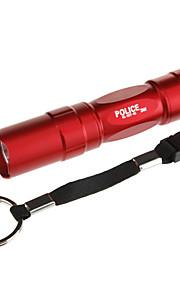 LED Lommelygter LED 100lm 1 Lys Tilstand Taktisk Dagligdags Brug Brun / Rød / Blå