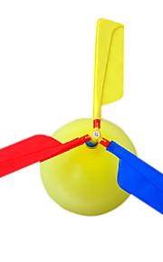 Gadget Voador Balões Helicóptero Brinquedos Helicóptero Novidades Inflável Festa Plástico Crianças Adulto 1 Peças