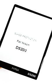 fotga® højkvalitets lcd-skærm panel beskytter glas til nikon d5200