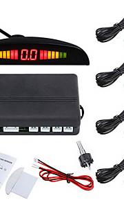 Car LED Parking Reverse Backup Radar System with Backlight Display with 4 Sensors (Multiple Colors)