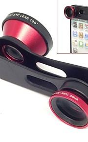 1 광각 렌즈의 빠른 변화 3, 매크로 렌즈와 아이폰에 대한 180 물고기 눈 렌즈 키트 5 종 세트 / 5 (분류 된 색깔)