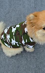 Hund T-shirt Hundekleidung camuflaje Grün Baumwolle Kostüm Für Haustiere Herrn Damen Modisch