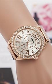 Mulheres Relógio de Moda Relógio Elegante Relógio de Pulso Quartzo Com Strass Lega Banda Brilhante Prata Dourada Ouro Rose
