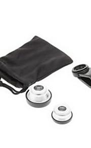 휴대 전화 클립 및 물고기 눈 넓은 매크로 아이폰 8 7에 대 한 설정에서 실버 사진 렌즈 삼성 갤럭시 s8 s7