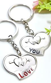 spersonalizowany grawerowanie kocham cię para pęk kluczy metalu