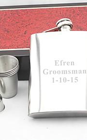 spersonalizowany prezent srebrny 18 uncji ze stali nierdzewnej zestaw hip kolby