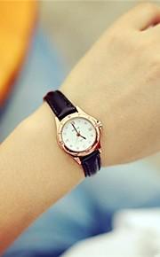 Mulheres Relógio Elegante Quartzo Couro Banda Preta Marrom Preto Café