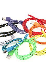 Micro-USB 2.0 USB 2.0 Adattatore cavo USB Intrecciato Cavi Per 100 cm Nylon