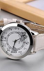 Mulheres Relógio de Moda Quartzo PU Banda Borboleta Preta Branco Rose