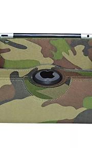 divat terepszínű pu védelme oldaltáska állvánnyal iPad 2/3/4