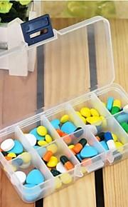 Travel Porta-Comprimidos para Viagem Retangular Acessórios de Emergência para Viagens Plástico