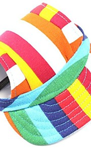 Dog Bandanas & Hats Dog Clothes Holiday Fashion Stripe Stripe Red/White White/Blue White/Pink Leopard Costume For Pets