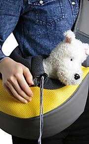 Кошка Собака Переезд и перевозные рюкзаки Сумка Животные Корзины Однотонный Компактность Дышащий Желтый Розовый Зеленый Синий Розовый Для