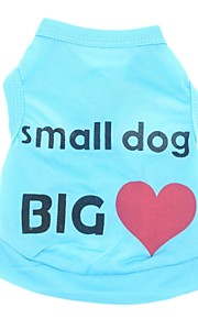 Cat Dog Shirt / T-Shirt Dog Clothes Casual/Daily Holiday Heart Letter & Number Blue Pink Costume For Pets
