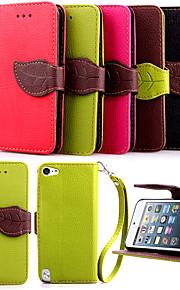 alta qualidade titular do cartão de carteira de couro pu tampa da tampa do caso para o iPod touch 5 (cores sortidas)