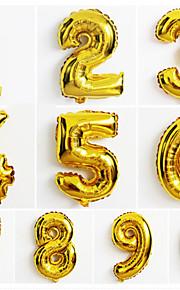 10pcs grande número de ouro 0-9 balões ano novo decoração de casamento festa de natal balão