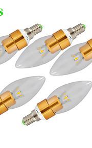 E14 LED лампы в форме свечи CA35 3 Высокомощный LED 500 lm Тёплый белый Холодный белый К Декоративная AC 220-240 V
