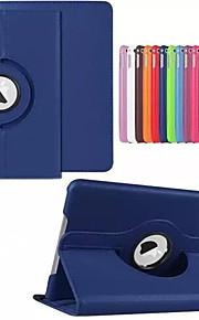 Kılıf Na Apple Z podpórką / Auto uśpienie / włączenie / Obrót 360° Pełne etui Jendolity kolor Twarde Skóra PU na iPad Air / iPad 4/3/2 /