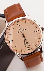 Homens Mulheres Casal Quartzo Relógio Elegante Venda imperdível PU Banda Vintage Preta Branco Dourada