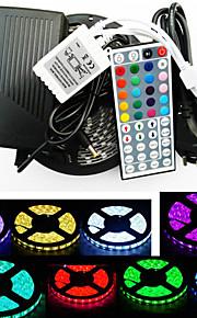 z®zdm vanntett 5m 300x5050 SMD RGB LED stripe lys og 44key fjernkontroll (ac110-240v)