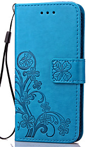 Case For Samsung Galaxy Samsung Galaxy Case Card Holder Wallet with Stand Flip Embossed Full Body Cases Flower Soft PU Leather for J7