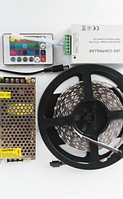 Lyssett 600 LED RGB Kuttbar Fargeskiftende Selvklebende Passer for kjøretøy Koblingsbar 100-240V
