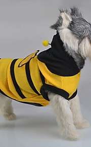 Autumn and Winter Cute Bee Costume Clothes Pets Clothing for  Pet Dog Cat Bumble Bee Wings Fleece Hoody Coat Costume