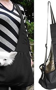 고양이 강아지 캐리어&여행용 배낭 어깨에 매는 가방 애완동물 바구니 휴대용 그린 블루 줄무늬 레드 - 화이트 화이트 블루 애완 동물