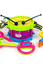 Bateria Pandeiro Alto-Falante Bels de mão Brinquedo Educativo Bateria Clássico Plástico ABS 5pcs Crianças Infantil Para Meninos Dom