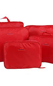 5 مجموعات حقيبة السفر / منظم السفر / منظم أغراض السفر سعة كبيرة / المحمول / قابلة للطى ملابس نايلون السفر