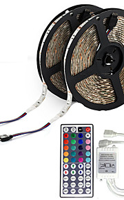KWB 10m Flexible LED Light Strips 600 LEDs 3528 SMD RGB Remote Control / RC / Cuttable / Dimmable / IP65 / Waterproof / Linkable / Suitable for Vehicles / Color-Changing