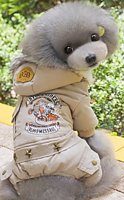 Hund Mäntel Kapuzenshirts Overall Hundekleidung Buchstabe & Nummer Grau Grün Baumwolle Kostüm Für Haustiere Herrn Damen Lässig/Alltäglich