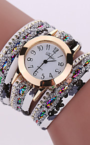 Women's Bracelet Watch Wrist Watch Quartz Cool Alloy Band Analog Charm Sparkle Vintage Black / White / Blue - Red Green Light Blue One Year Battery Life