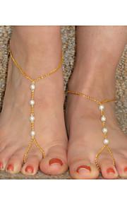 Dame Ankel/Armbånd Perle minimalistisk stil Mode Perler Europæisk Håndlavet Smykker Til Daglig