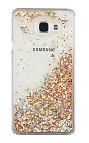Case For Samsung Galaxy Flowing Liquid Back Cover Glitter Shine Hard PC for A7(2016) A5(2016)