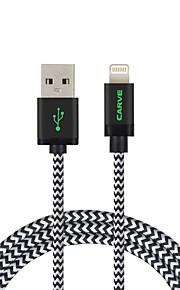 ライト USBケーブルアダプタ 充電ケーブル 充電器用コード データ&同期 コード 編み ケーブル 用途 iPad Apple iPhone 200 cm ナイロン