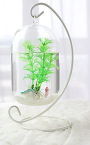 Miniakvarium Ornament Glas Metall