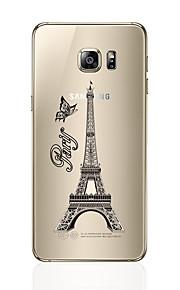 Custodia Per Samsung Galaxy S7 edge S7 Transparente Fantasia/disegno Custodia posteriore Torre Eiffel Morbido TPU per S7 edge S7 S6 edge