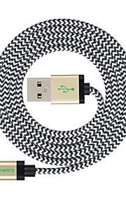 ライト USBケーブルアダプタ 充電ケーブル 充電器用コード データ&同期 コード 編み ケーブル 用途 iPad Apple iPhone 300 cm ナイロン