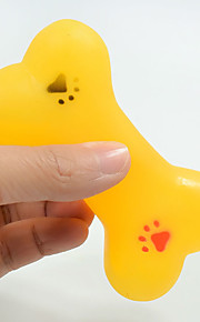 Игрушка для очистки зубов Игрушки с писком Мультипликация Скрип Эластичный Прочный Halloween Отпечаток ступни Собака Кость Кость Ластик