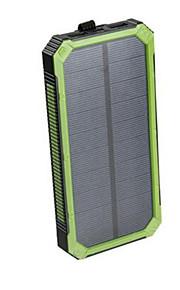 noodoplader externe batterij 5V 2.0A #A Oplader waterdicht Zaklamp Meerdere uitgangen Zonne-energielader Schokbestendig LED
