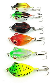 "6 pcs Hard Bait Others Fishing Lures Frog Assorted Colors g/Ounce,40 mm/1-5/8"" inch,Hard PlasticSea Fishing Fly Fishing Bait Casting Ice"