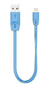 USB 2.0 Verlichting USB kabeladapter Data & Synchronisatie Koord Oplaadkabel Oplaadkoord Plat Kabel Voor iPad Apple iPhone 15 cm TPE