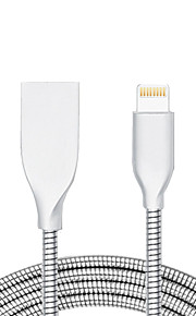 USB 2.0 Normal Kabel Til Apple iPhone iPad 98 cm Metal Aluminium