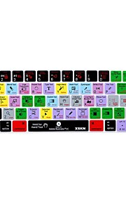 xskn® illustratör cc kort silikon tangentbord huden och pekfältet skydd för 2016 nya MacBook Pro 13,3 / 15,4 med touch bar näthinnan (USA