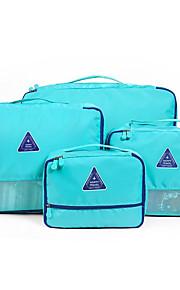 4 Pças. Bolsa de Viagem Organizador de Mala Prova-de-Água Organizadores para Viagem Multi funções para Roupas Sutiãs Tecido para Viagem