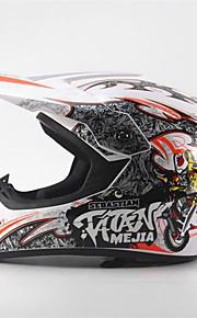 mejia off-road wyścigi motocyklowe kask z pełnym tłumieniem trwały kask motorsportowy biały / pomarańczowy kolor